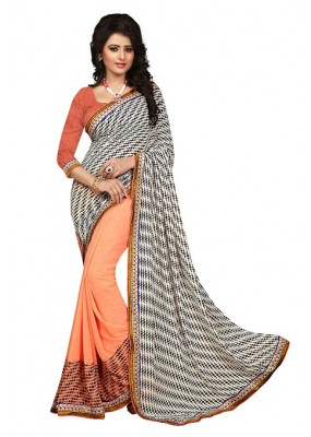 Casual Wear Multicolour Georgette Saree  - 73024