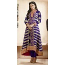 Designer Purple Georgette Embroidered Anarkali Suit - 73229