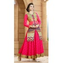Ethnic Wear Pink Georgette Embroidered Anarkali Suit - 73230