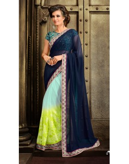 Casual Wear Multicolour Georgette Saree  - 73324