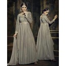 Ethnic Wear Grey Georgette Anarkali Suit - 73343