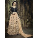 Party Wear Beige Georgette Anarkali Suit - 73348
