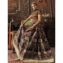 Party Wear Multicolour Banarasi Silk Anarkali Suit - 73487