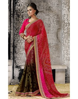 Casual Wear Multicolour Georgette Saree  - 73527