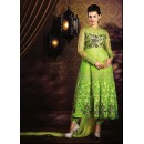 Ethnic Wear Green Georgette Anarkali Suit- 73549