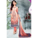 Ethnic Wear Pink Cotton Salwar Suit - 73790