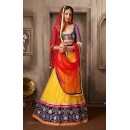 Navratri Special Yellow & Red Net Lehenga Choli - 74042