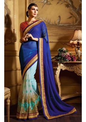 Ethnic Wear Multicolour Georgette Saree  - 74148