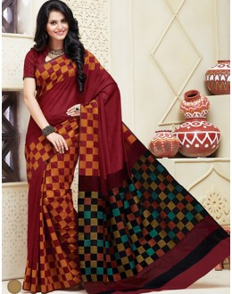 Ethnic Wear Multicolour Cotton Saree  - 74310