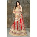 Designer Red Net Embroidered Lehenga Choli - 74498