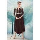 Fancy Readymade Brown Georgette Kurti - 74571