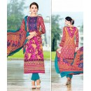 Ethnic Wear Multicolour Cotton Salwar Suit - 74587