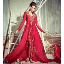 Ethnic Wear Red Georgette Slit Salwar Suit  - 74728