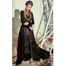 Party Wear Black Georgette Slit Salwar Suit  - 74730