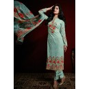 Party Wear Light Turquoise Georgette Salwar Suit - 74752