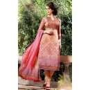 Ethnic Wear Brown & Pink Georgette Salwar Suit  - 75020