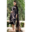 Office Wear Black & Brown Georgette Salwar Suit  - 75021