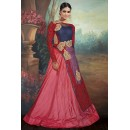 Party Wear Blue & Blue Net Lehenga Suit - 75650