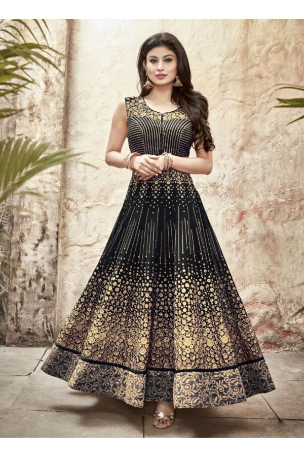 Party wear Black Georgette Salwar suit - 69998