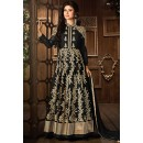 Moni Ray Black Georgette Embroidered Anarkali Suit - 76026