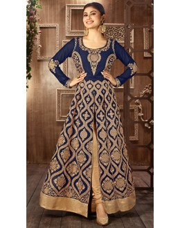 Moni Ray Blue Georgette  Embroidered Salwar Suit - 76028