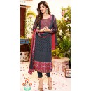 Shilpa Shetty In Grey Georgette Salwar Suit  - 76060