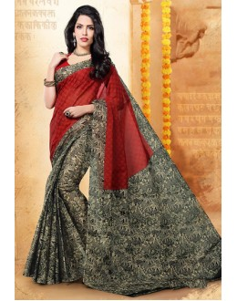 Party Wear Multicolour Cotton Saree  - 77706
