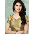 Ethnic Wear Readymade Gold Brocade Blouse - 77898