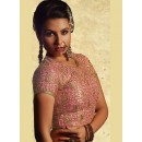 Party Wear Readymade Pink Net Blouse - 77931