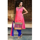 Party Wear Readymade Pink Silk Salwar Suit - 78079