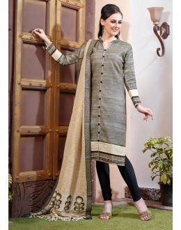 Ethnic Wear Readymade Grey Salwar Suit - 79783