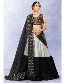 Festival Wear Black Silk Lehenga Choli - 78223