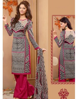 Festival Wear Multi-Colour Cotton Palazzo Suit  - 78274
