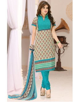 Office Wear Green Cotton Salwar Suit  - 78291