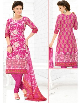 Office Wear Pink Cotton Salwar Suit  - 78293