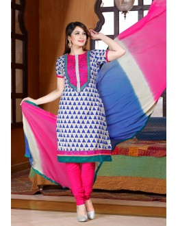 Office Wear Pink Cotton Salwar Suit  - 78306