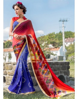 Ethnic Wear Multi-Colour Georgette Saree  - 78600