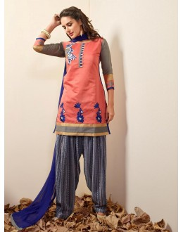 Office Wear Readymade Pink Patiyala Suit - 79792