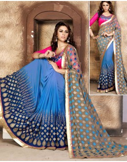 Ethnic Wear Multi-Colour Georgette Saree  - 79055