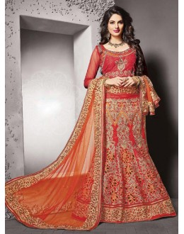Bridal Wear Red Silk Lehenga Choli - 79230