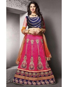 Wedding Wear Pink Silk Lehenga Choli - 79231