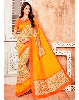 Casual Wear Yellow Silk Saree  - 79241