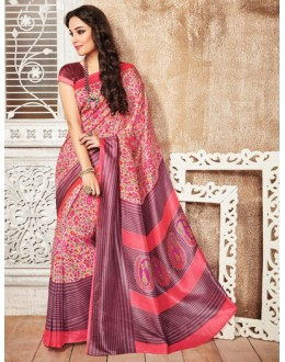 Casual Wear Multi-Colour Silk Saree  - 79246