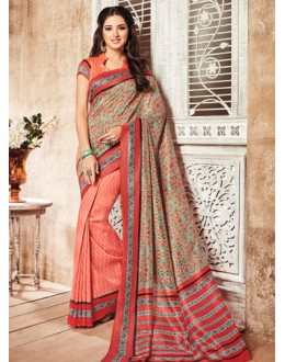 Casual Wear Multi-Colour Silk Saree  - 79248