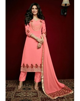 Office Wear Pink Georgette Salwar Suit  - 79311
