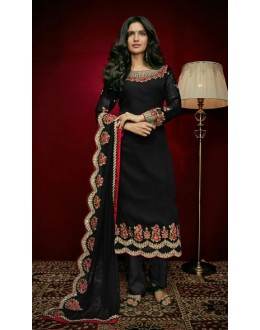 Ethnic Wear Black Georgette Salwar Suit  - 79312