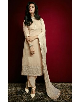 Office Wear Cream Georgette Salwar Suit  - 79313