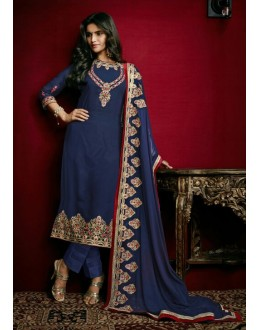 Festival Wear Blue Georgette Salwar Suit  - 79314
