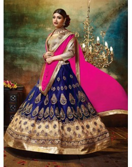 Traditional Blue Net Lehenga Choli - 79379