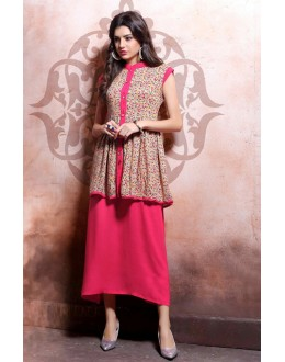 Party Wear Readymade Pink Kurti - 79538